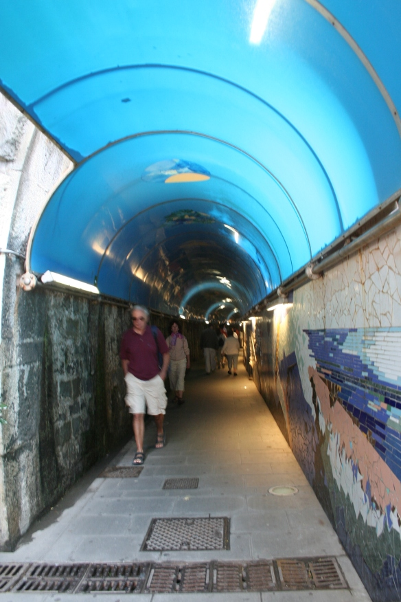 Tunnel where murals are displayed